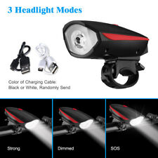 Super Bright Led Bike Bicycle Light Rechargeable Headlight Taillight Set Usb New