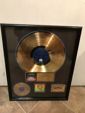 ANTHRAX Authentic RIAA CERTIFIED GOLD RECORD AWARD Persistence Of Time 1990!!!