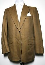 Mens Burberry Brown Blue Check 42 Reg Pure Wool Blazer Size M/L *Exclusive 8-592