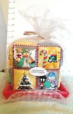 Candle, Christmas Novelty 3 D Patchwork, On Red Ceramic Dish,  RAC Designs