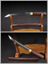 Japan Ninja Sect Shrine Short Samurai Sword Dagger Pattern Steel Huali Wood #365