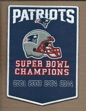 "NEW 5 X 7"" NEW ENGLAND PATRIOTS DYNASTY BANNER IRON ON PATCH FREE SHIPPING A2"