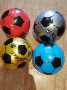 PLASTIC 23 CM Flyaway Football Indoor Outdoor for KIDS  BLUE RED SILVER YELLOW