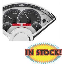 Dakota Digital 1955-56 Chevy Car VHX Instrument Gauges Silver / Red VHX-55C-S-R