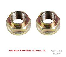 2 New Honda Toyota Axle Stake Nuts OE Repl. , 22mm x 1.5, Free Shipping