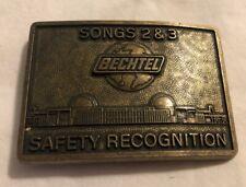 Bechtel Belt Buckle Brass Safety Recognition Sings 2 & 3