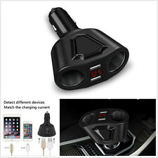 DC 12V Car Cigarette Lighter Socket Splitter 3.1A Dual USB Charger Power Adapter