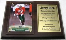 Mississippi Valley State Jerry Rice Upper Deck Football Card Plaque