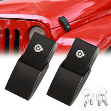 Pair Anti-Theft Locking Hood Look Catch Latches for Jeep Wrangler JK JKU 07~18 a
