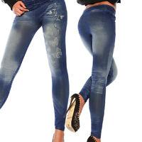Womens High Waist Slim Stretch Jeans Denim Skinny Ripped Pencil Pants Trousers