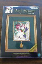VTG Dimensions Gold Nuggets Exquisite Hummingbird Cross Stitch Kit #35059 - NIP