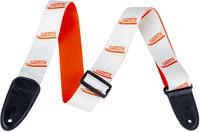 Gretsch Guitar Strap Vibrato Arm Pattern - White & Orange