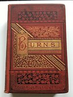 Complete Poetical Works of Robert Burns c1882 Scottish poet gold embossed cover