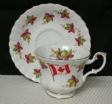 """Lovely Royal Albert """"FROM SEA TO SEA"""" Canada Maple Leaf TEA CUP & SAUCER England"""