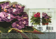 Canada 2010 African Violets Souvenir Sheet Used