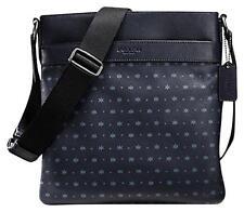 NEW COACH Men's Star Dot Leather Tablet Map small Messenger Crossbody bag Navy