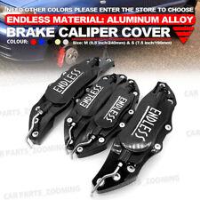 Metal 3D ENDLESS Universal Style Brake Caliper Cover front & rear 4pcs Black WL3