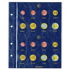 Feuilles numismatiques Vista pour 2 séries euro.