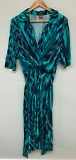 Women's Olsen Blue Patterned Maxi Dress Size   EC952