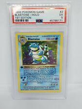 1999 Pokemon 1ST EDITION BASE SET BLASTOISE 2/102 HOLO FOIL PSA 5 EXCELLENT
