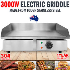 NEW 3000W Electric Griddle Hot Plate 304 Stainless Steel Grill Commercial BBQ