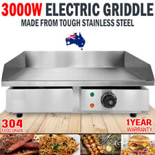 NEW 3000W Electric Griddle Hot Plate Stainless Steel Grill Commercial BBQ