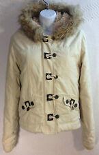 Womens O'Neill Bomber Jacket Ski Coat Hook BtN & Faux Fur Sherpa Lining Cream M
