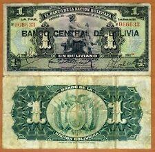 Bolivia,  1 bolivano, 1929, P-112, VG  > Hand Signed