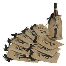 Hortense B. Hewitt Burlap Table Number Wine Bags Wedding Accessories Set of 10