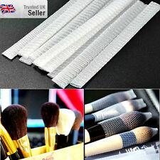 10 piezas de cosméticos de Maquillaje Pincel Pluma malla cubierta de malla Vaina protectores guardias UK