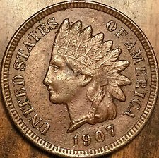 1907 USA INDIAN HEAD SMALL CENT PENNY