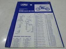 POSTER PIECES CHASSIS FRAME SPARE PARTS KTM 125 MX D-XC E-XC E-GS 1990 203.10