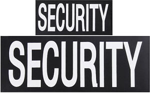 SECURITY Patches Hook Back - 1 Large & 1 Small Patch for Vests or Jackets