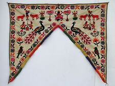 Vintage Door Valance Window Decor Wall Hanging Hand Embroidered 48 x 40 inch X01