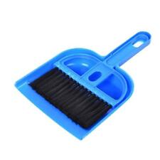 Mini Desktop Sweep Cleaning Brush Small Broom Dustpan Set Blue2