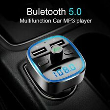 Car Player Mp3 Music Fm Transmitter Wireless Bluetooth Dual Port Usb Charger Kit