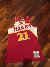 NBA Mitchell And Ness Vintage Authentic Jersey Hawks Dominique Wilkins Size M