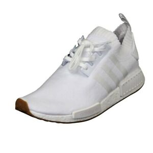 Adidas Originals NMD_R1 PK Men's Shoes White Mesh Running Athletic BY1888 SZ 14