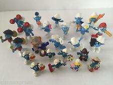 Lot of 24 SMURF SMURFS Figures Figurines Schleich Peyo McDonalds Smurfette PaPa