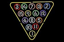 "Brand New 15 Ball Rack Billiards Snooker Pool Neon Light Sign 20""x18"""