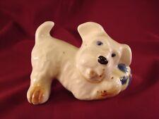 Vintage Occupied Japan Terrier Scotty Figurine w/Ball Whimsical Comic Dog #De3