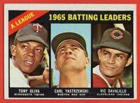 1966 Topps #216 Batting Leaders EX-EXMINT+ WRINKLE Carl Yastrzemski Tony Oliva