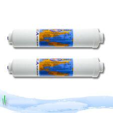 "Omnipure In-line Fridge Water Filter Cartirdge K2533JJ 1/4"" Push Fit Fittings X2"