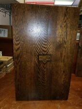 ANTIQUE OAK STANLEY SWEETHEART TOOL CABINET WITH KEY!! VG cond CIRCA 1920s!