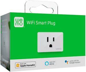 WeMo WiFi Smart Plug Works w/ Alexa, Google Assistant, Apple Homekit