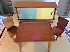 Salle a manger d'enfant buffet table chaises en Hêtre année 60