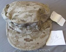 N.W.T USMC Garrison Hat, Utility Cover, Desert Digital, EGA,8-POINT, NEW  MEDIUM