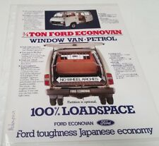1980s ? FORD ECONOVAN Window Van Original Sales Leaflet MALAYSIA Issued