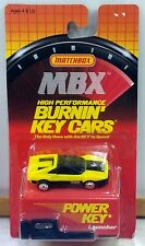 Matchbox BURNIN KEY CAR Ferrari 328 32 Valve YELLOW w POWER KEY LAUNCHER Rare