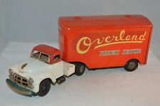 Tinplate Overland Freight Service Truck Tin Litho Japan Friction truck